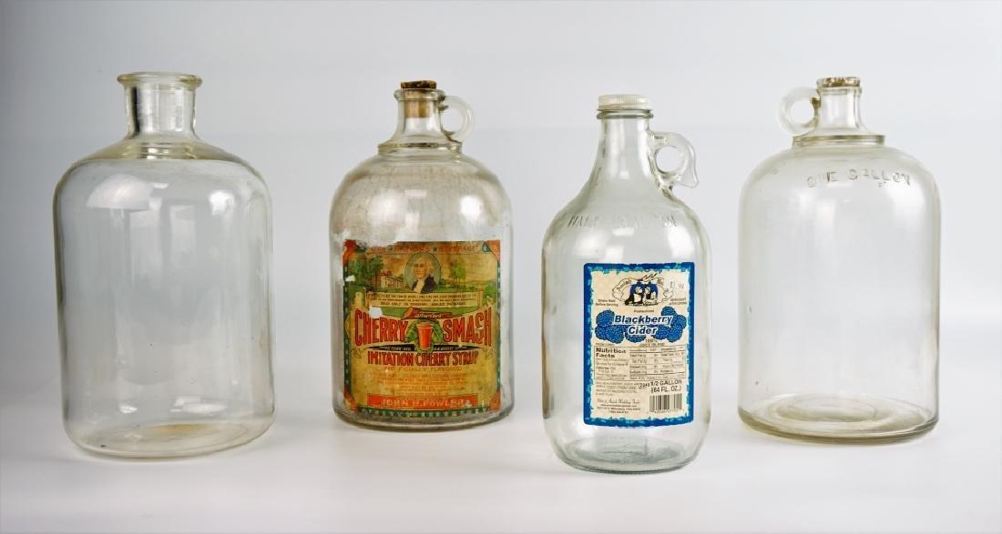 (4) VINTAGE GLASS JUGS - 2