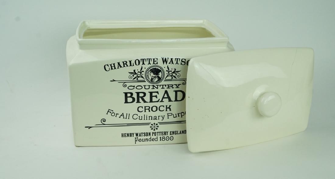 CHARLUTTE WATSON BREAD CROCK - 2