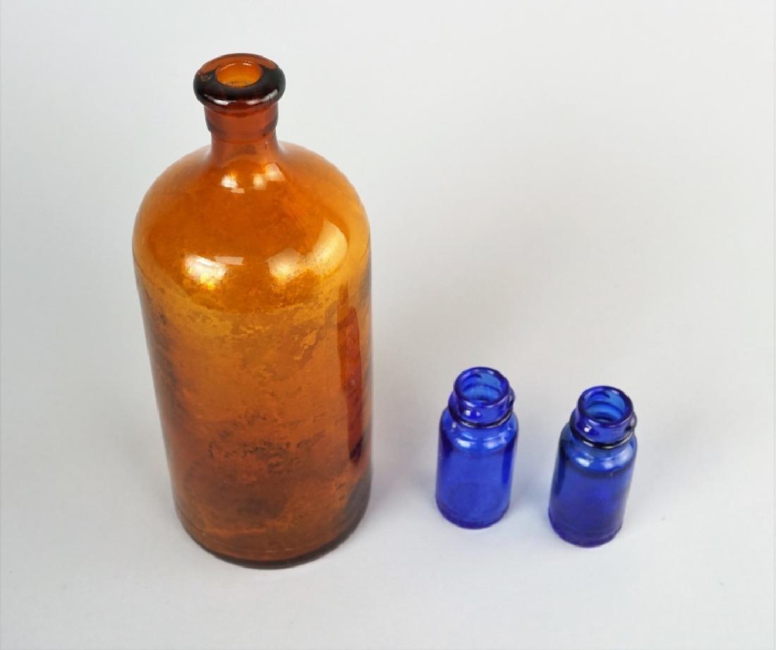 (3) VINTAGE GLASS BOTTLES