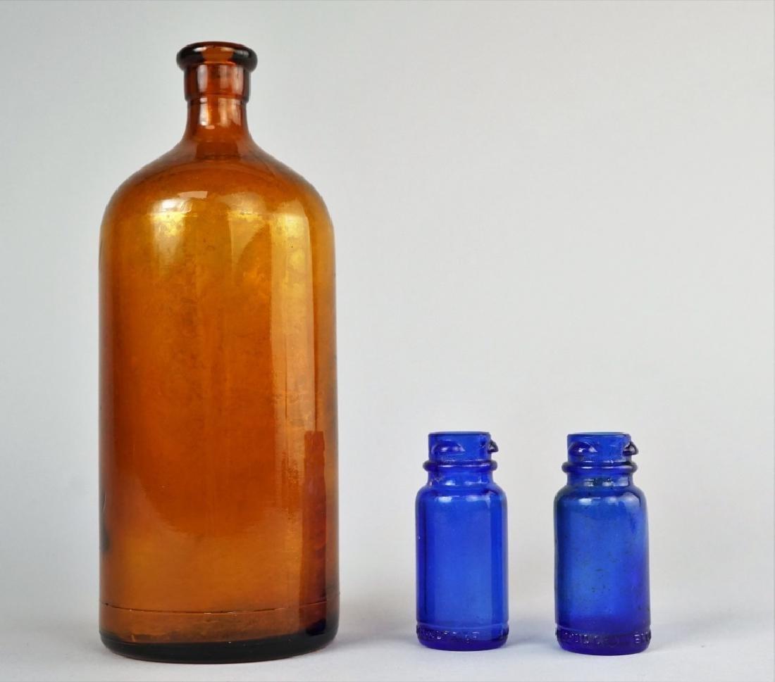 (3) VINTAGE GLASS BOTTLES - 2