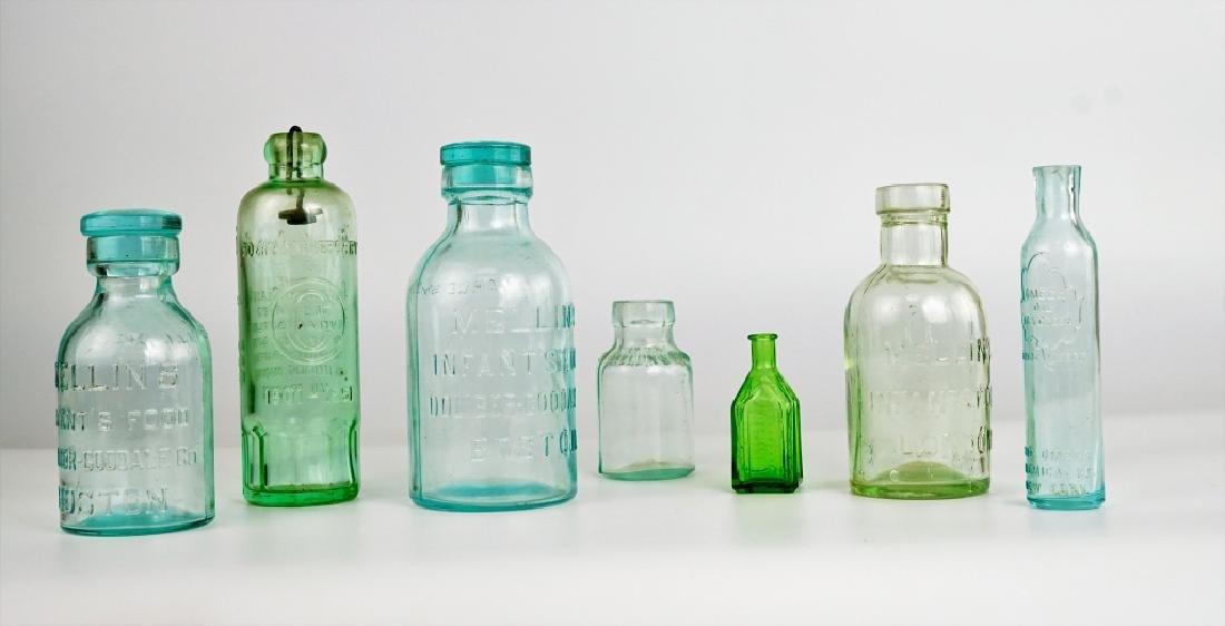 (7) ASSORTED VINTAGE GLASS BOTTLES