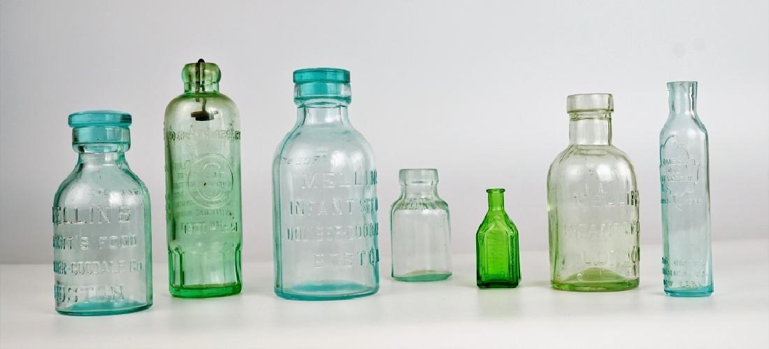 (7) ASSORTED VINTAGE GLASS BOTTLES - 2