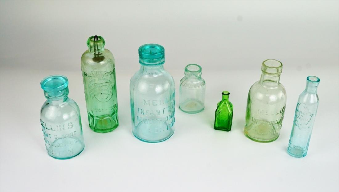 (7) ASSORTED VINTAGE GLASS BOTTLES - 3