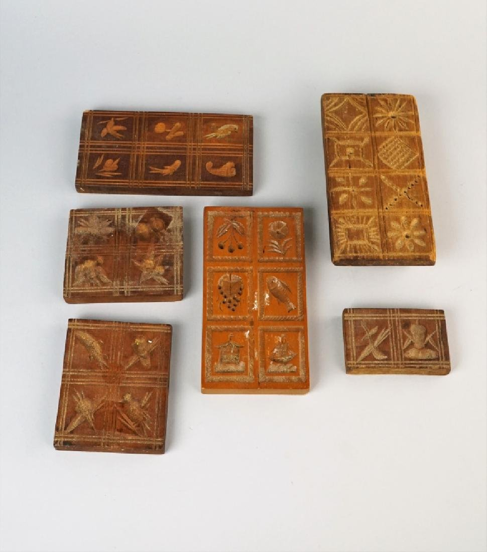 (7) ASSORTED PRIMITIVE WOODEN BUTTER MOLDS