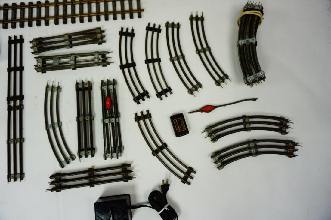 ASSORTED O GAUGE TRAIN CARS & TRACK - 4
