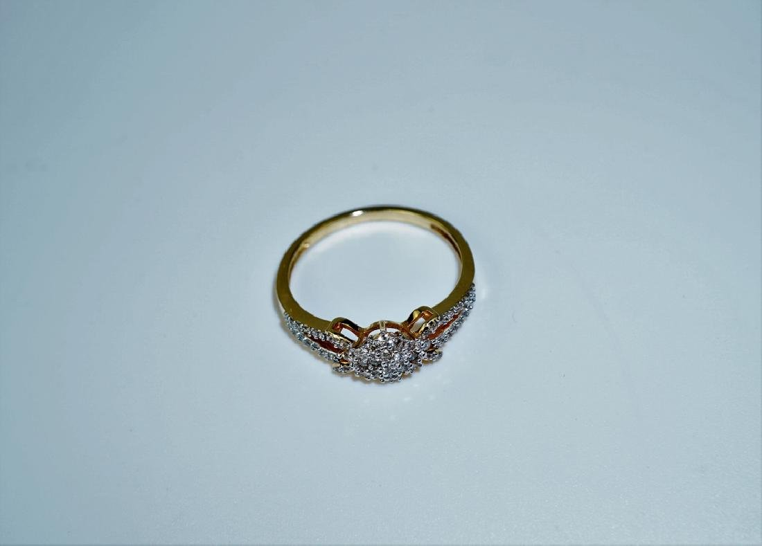 14K YELLOW GOLD AND DIAMOND FASHION RING - 2