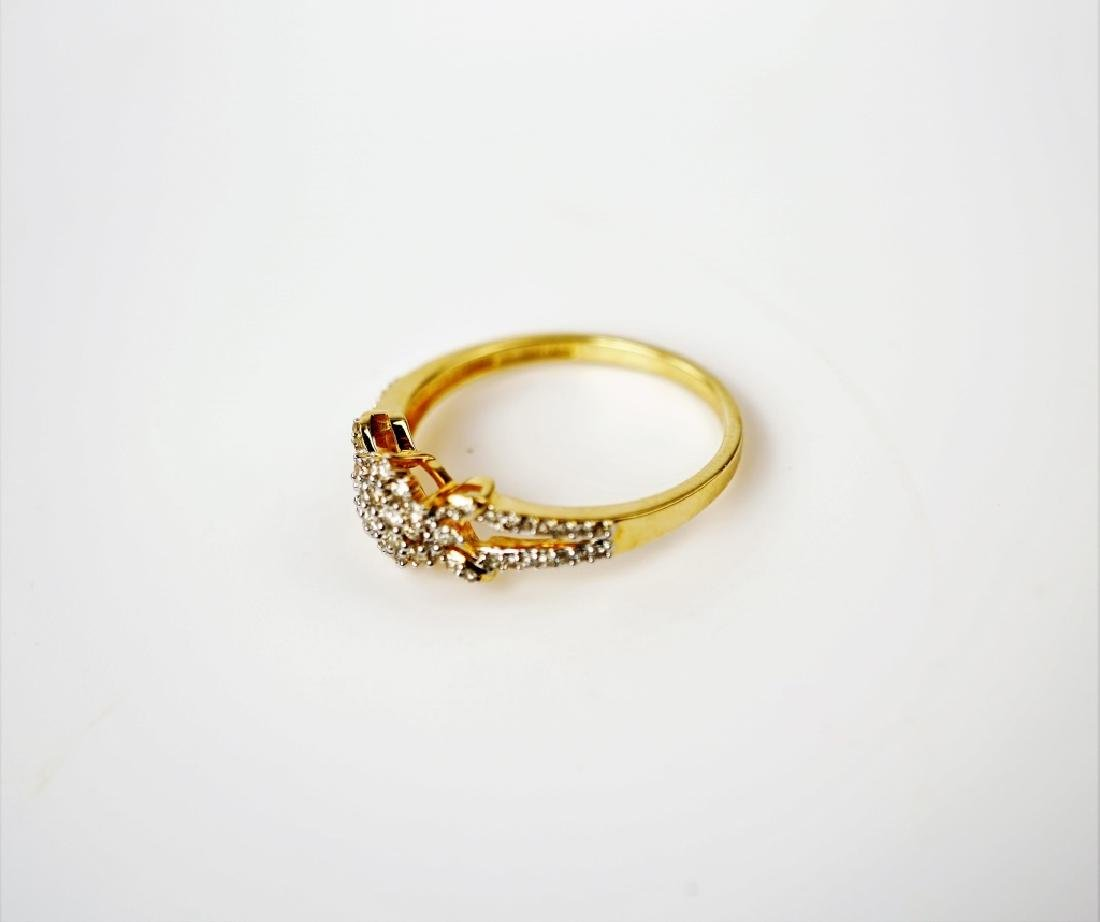 14K YELLOW GOLD AND DIAMOND FASHION RING - 3