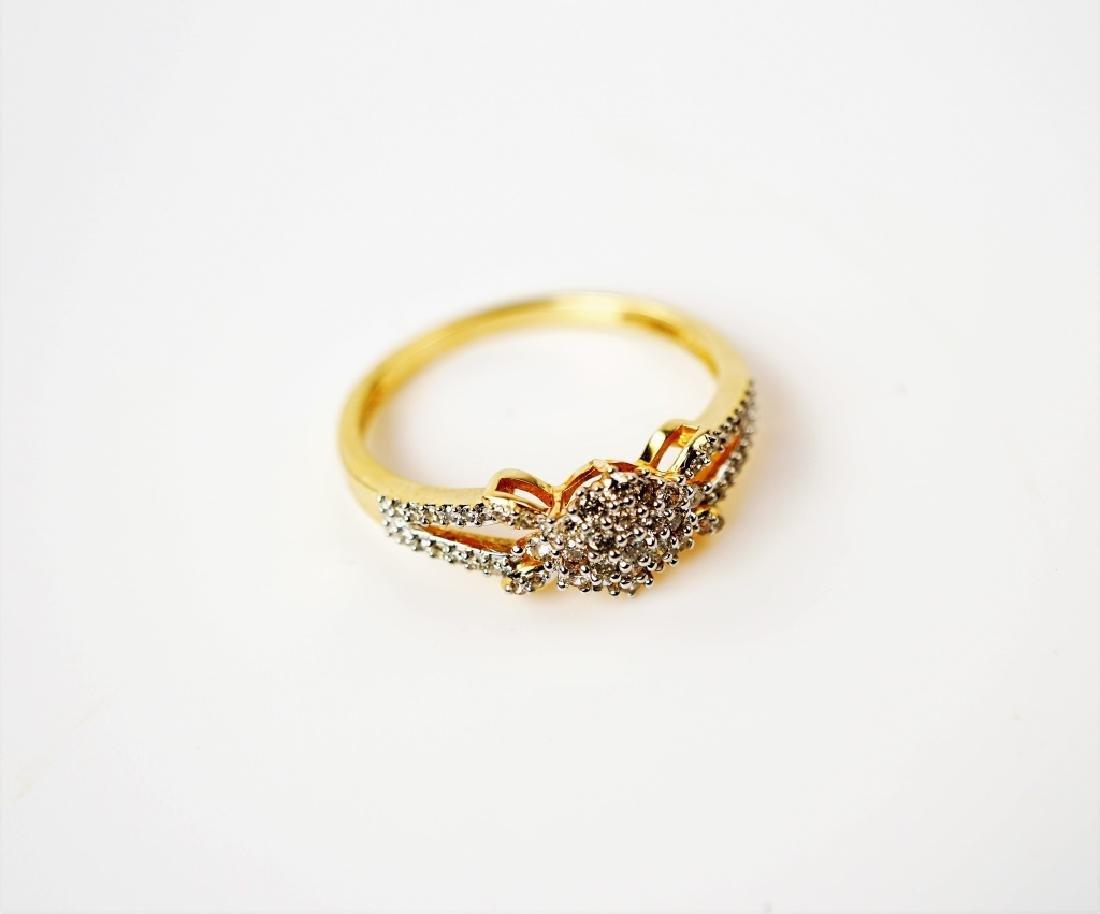 14K YELLOW GOLD AND DIAMOND FASHION RING - 4