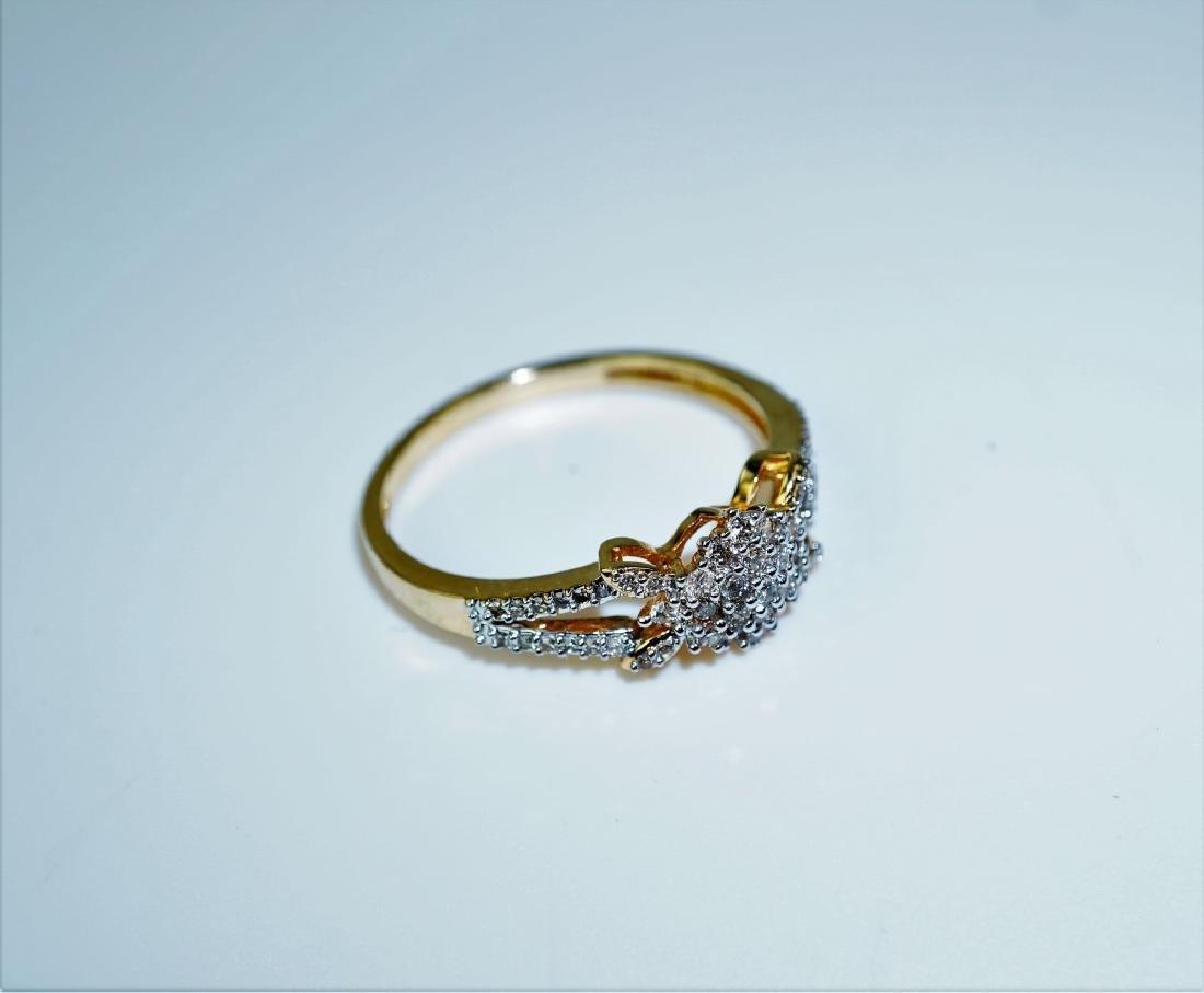 14K YELLOW GOLD AND DIAMOND FASHION RING - 5