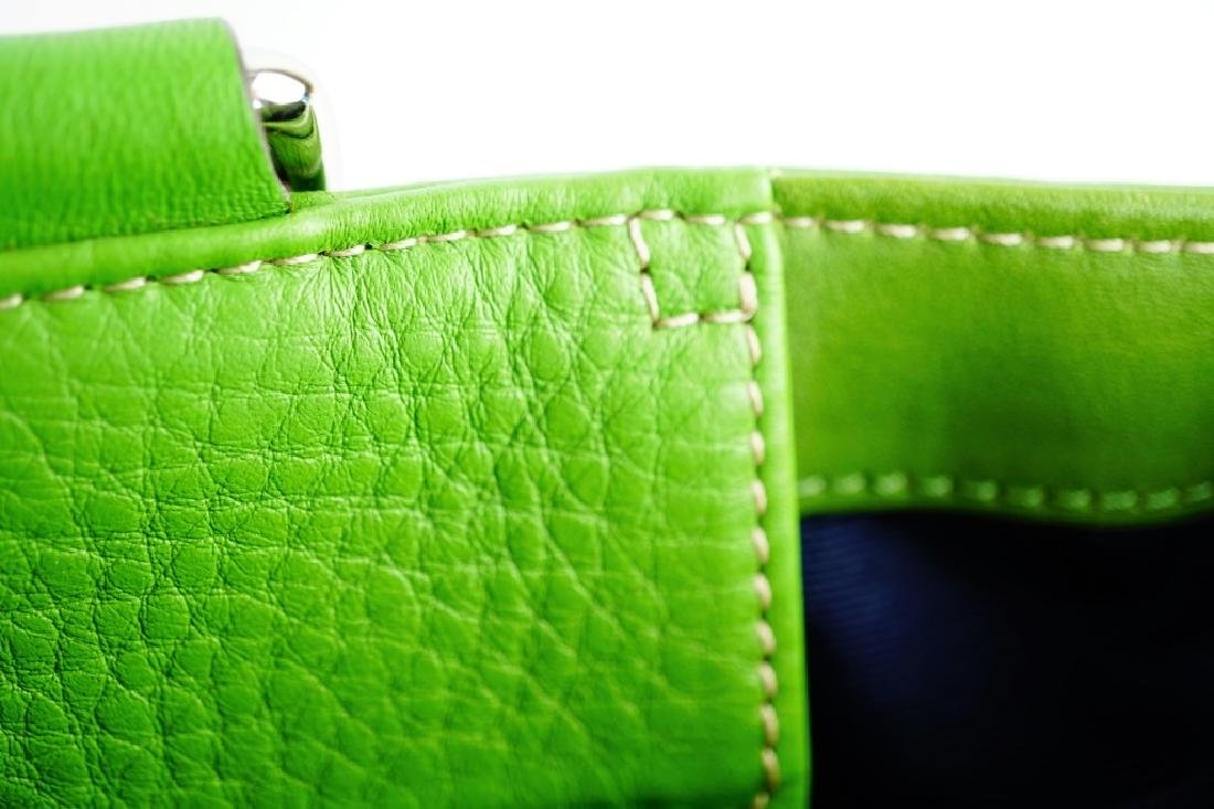 GREEN LEATHER COACH SHOULDER HANDBAG - 10