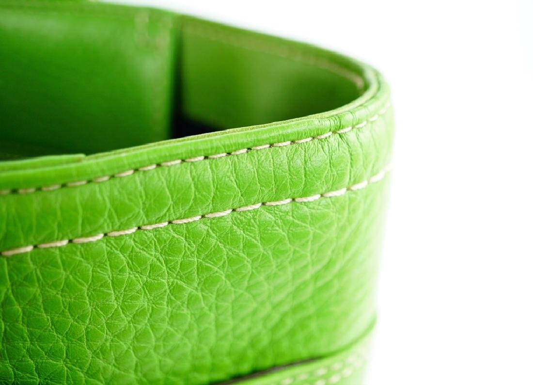 GREEN LEATHER COACH SHOULDER HANDBAG - 7