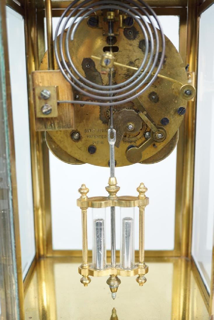 ANSONIA BRASS CRYSTAL REGULATOR CLOCK - 5