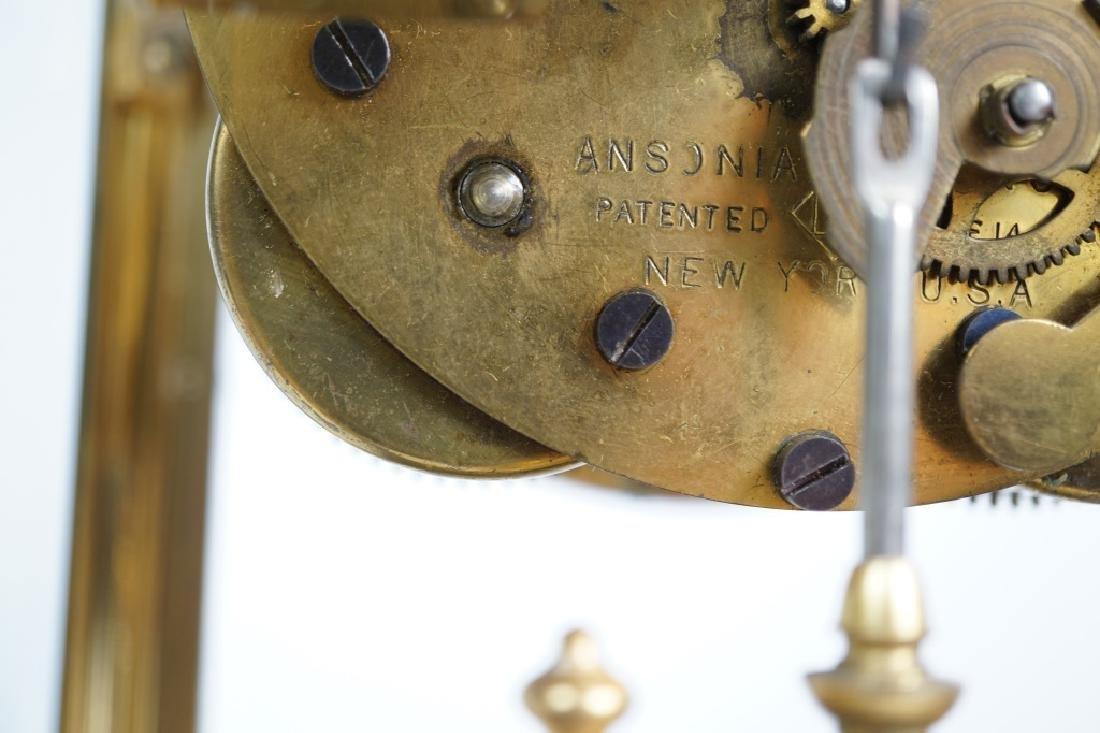 ANSONIA BRASS CRYSTAL REGULATOR CLOCK - 6