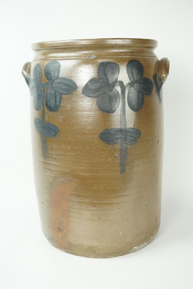ANTIQUE PETER HERRMANN DECORATED STONEWARE CROCK