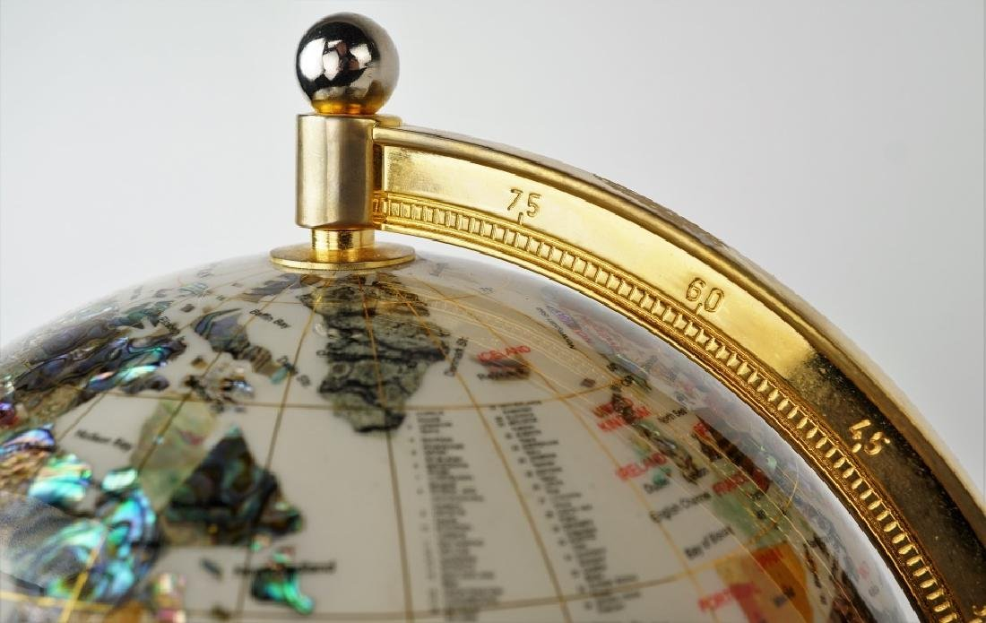 GEMSTONE GLOBE WITH MOTHER OF PEARL - 5