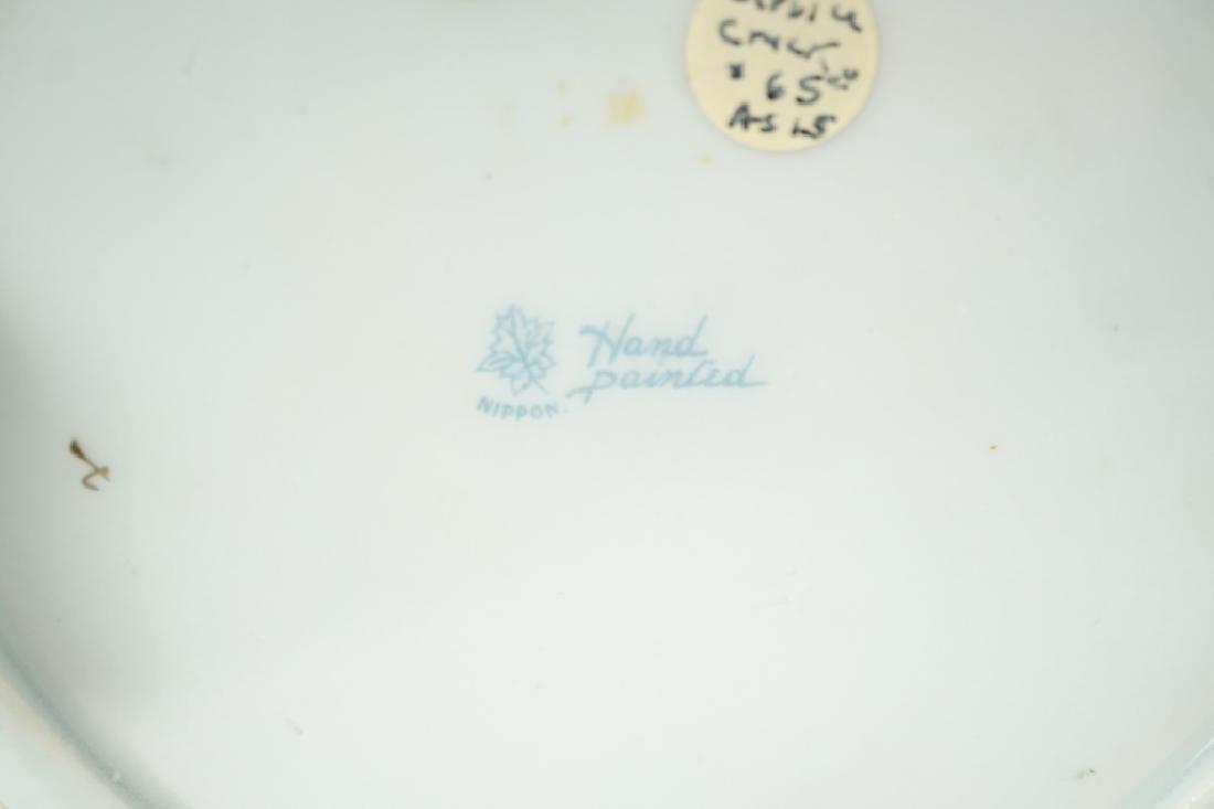 VINTAGE HAND PAINTED NIPPON 2-HANDLED VASE - 6