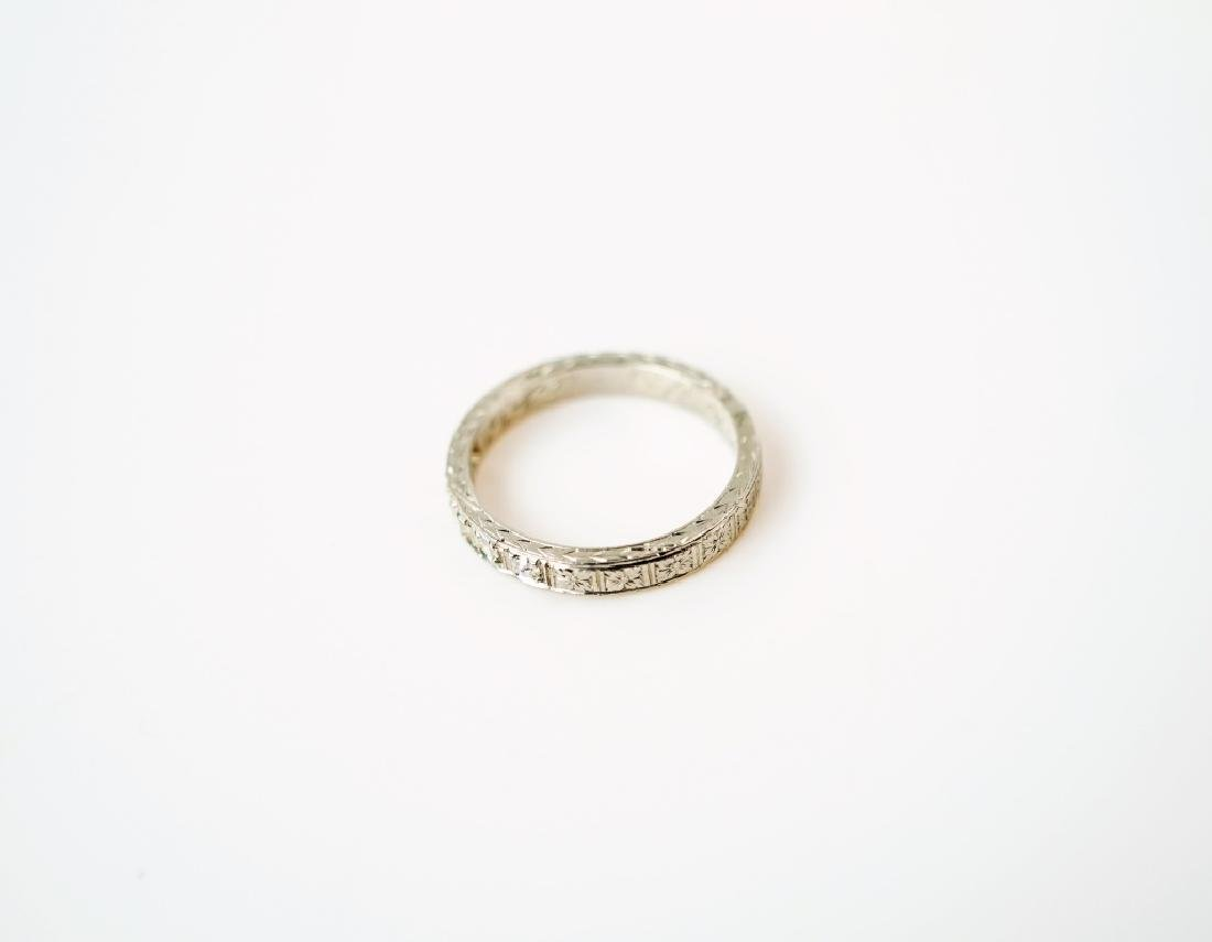 PLATINUM & DIAMOND DECO STYLE RING - 5