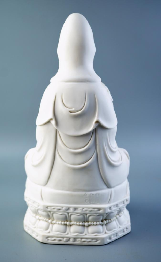 MODERN CHINESE BLANC DE CHINE QUANYIN FIGURINE - 5