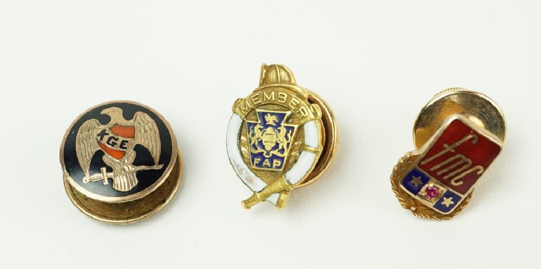 (3) ASSORTED ORGANIZATION SERVICE PINS