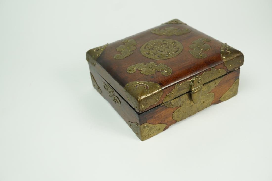 BRASS FITTED ROSEWOOD BOX