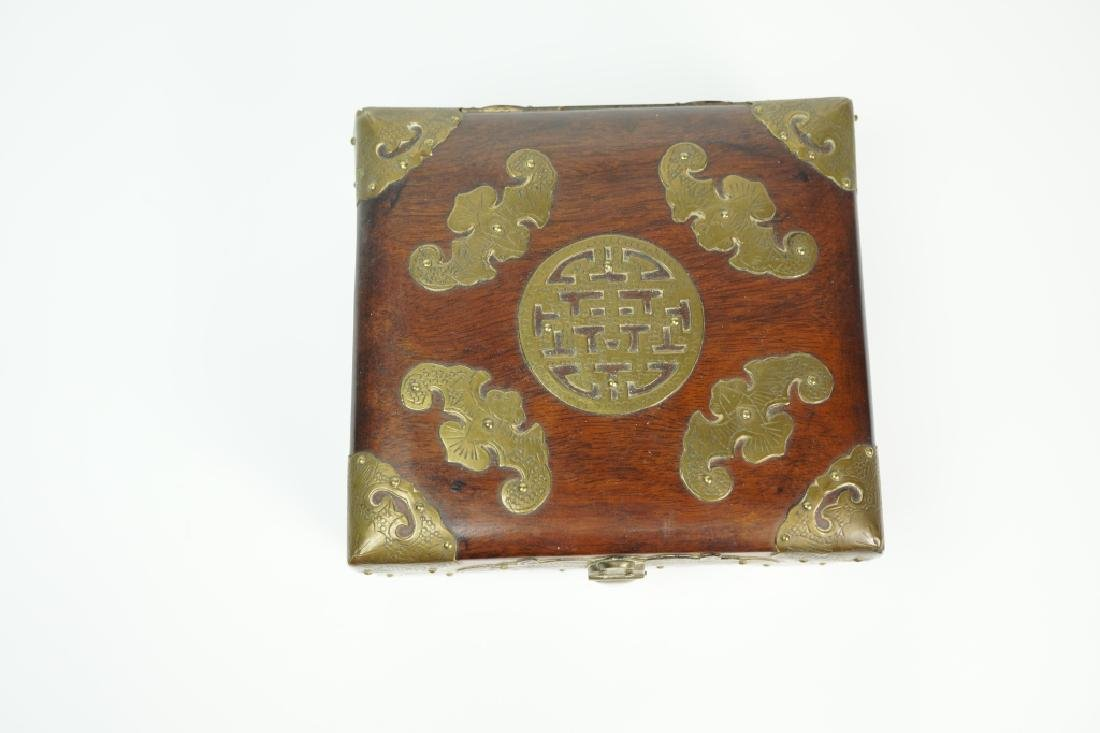 BRASS FITTED ROSEWOOD BOX - 2