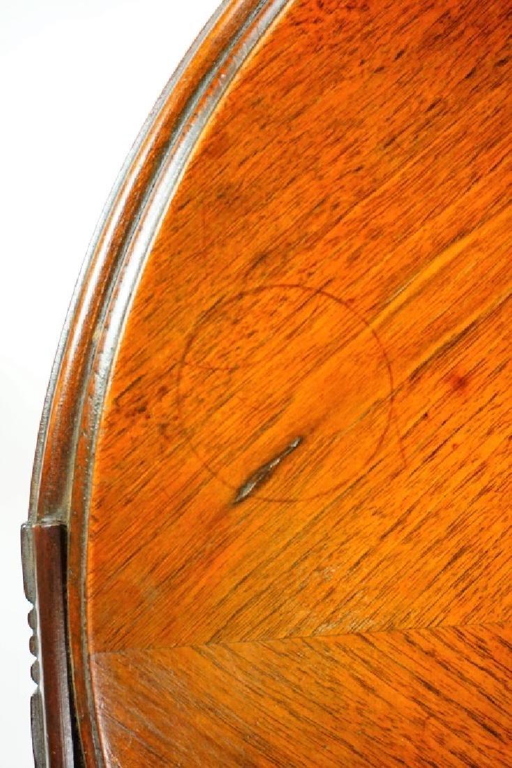 PAIR ROUND MAHOGANY SIDE TABLES - 6