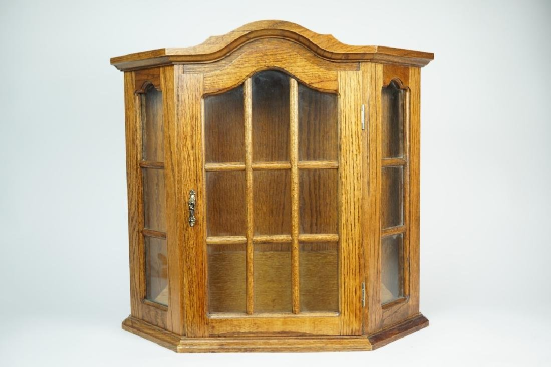WALL MOUNT WOODEN CURIO CABINET