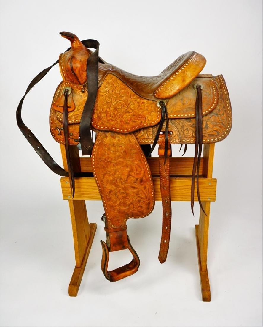TEX-TAN HEREFORD YOAKUM LEATHER SADDLE - 3