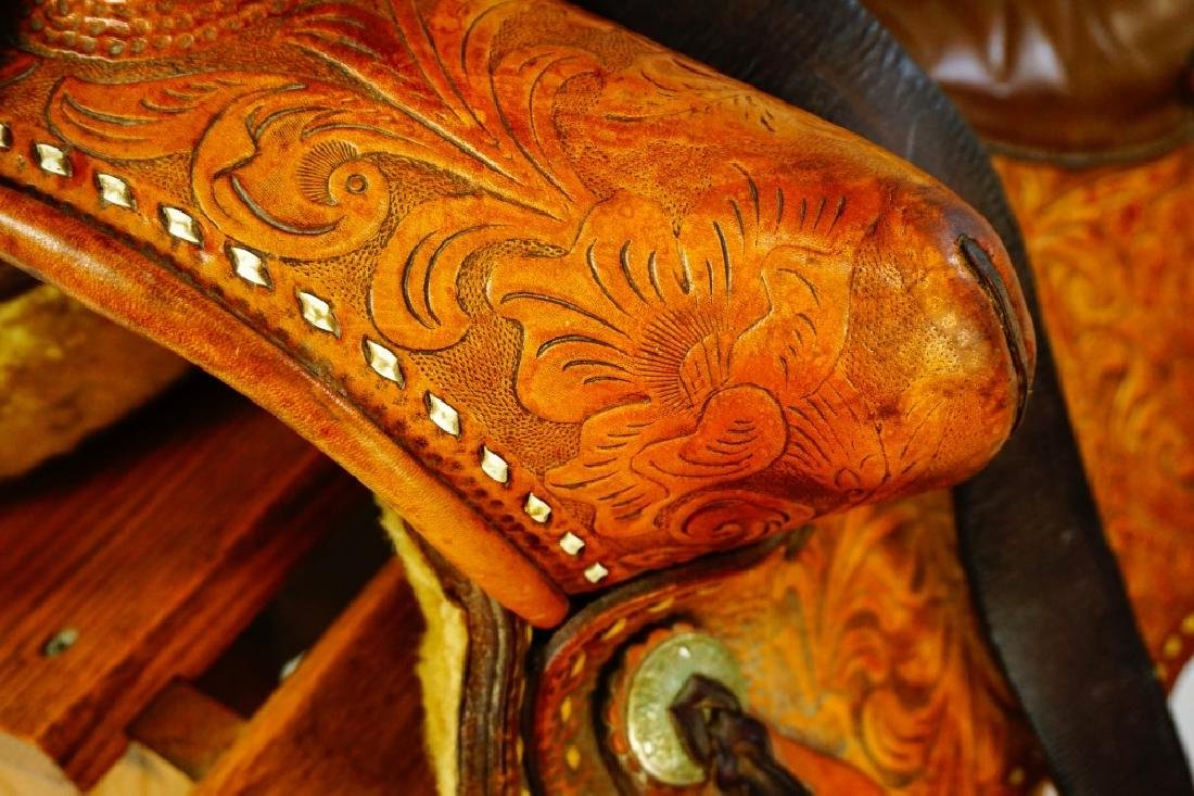 TEX-TAN HEREFORD YOAKUM LEATHER SADDLE - 5