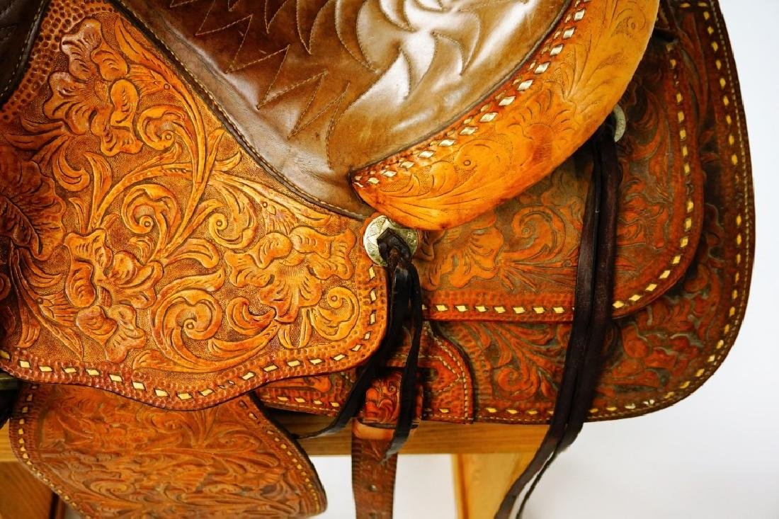 TEX-TAN HEREFORD YOAKUM LEATHER SADDLE - 6