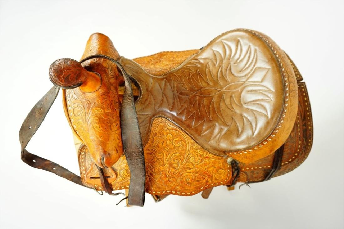 TEX-TAN HEREFORD YOAKUM LEATHER SADDLE - 7