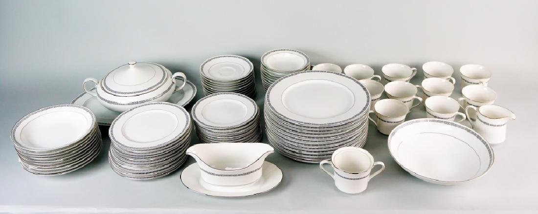 85pc CROWN EMPIRE CHINA MARQUIS DINNER SERVICE