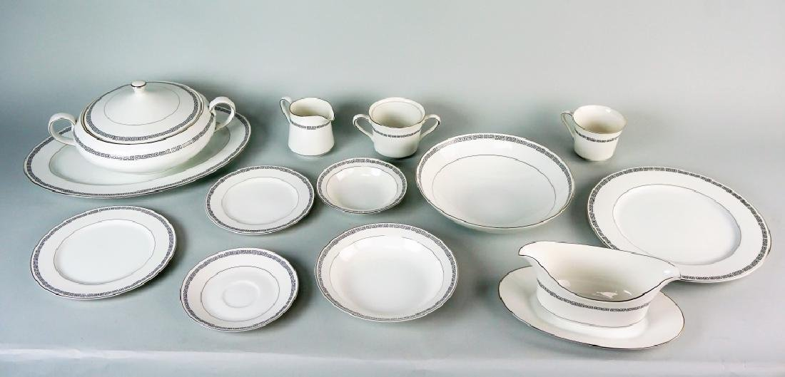85pc CROWN EMPIRE CHINA MARQUIS DINNER SERVICE - 5