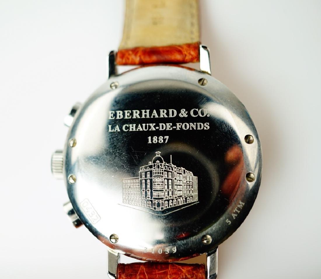 STAINLESS STEEL EBERHARD CHRONOGRAPHE WRIST WATCH - 7