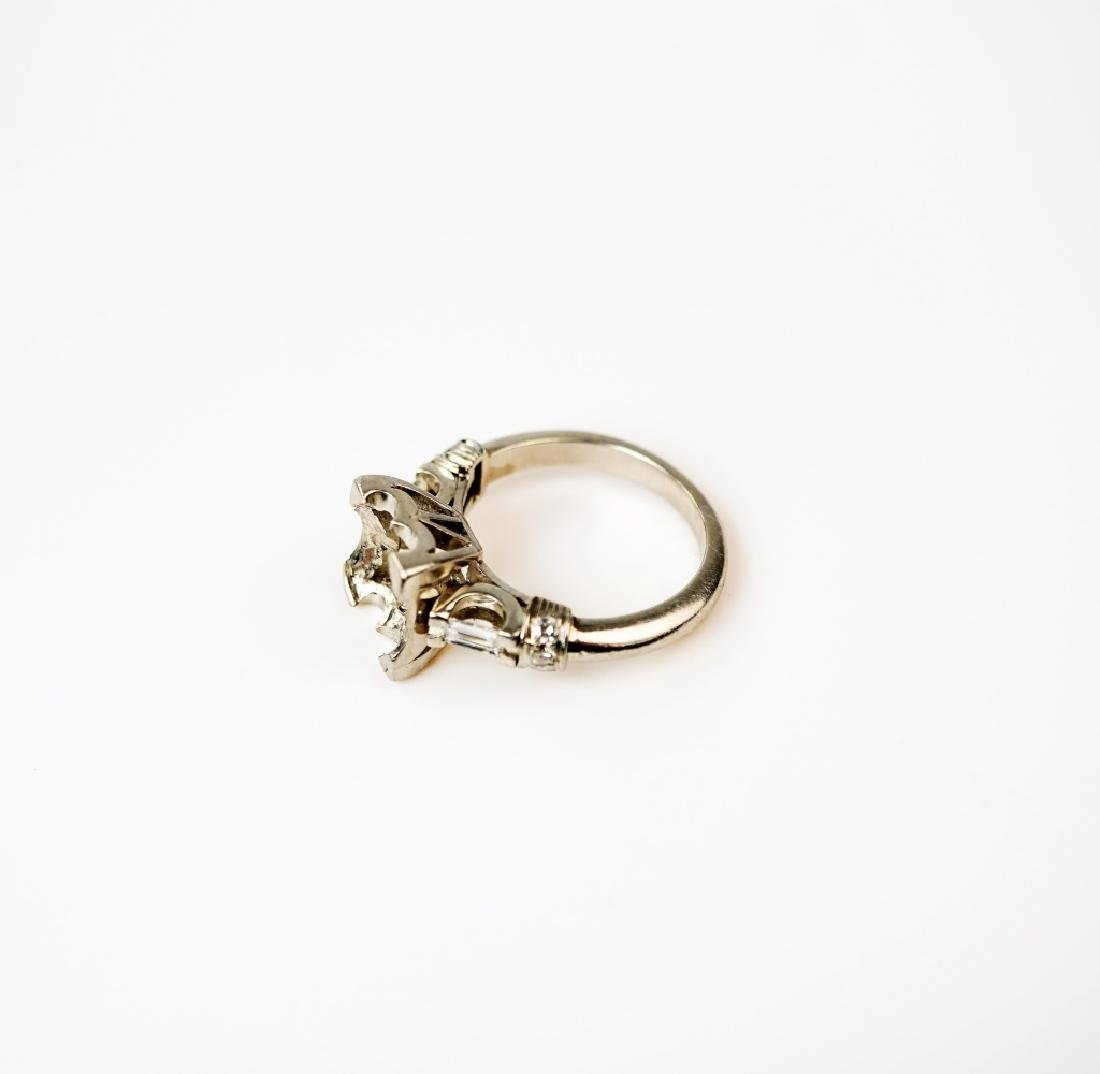 PLATINUM AND DIAMOND PEARL RING SETTING - 2