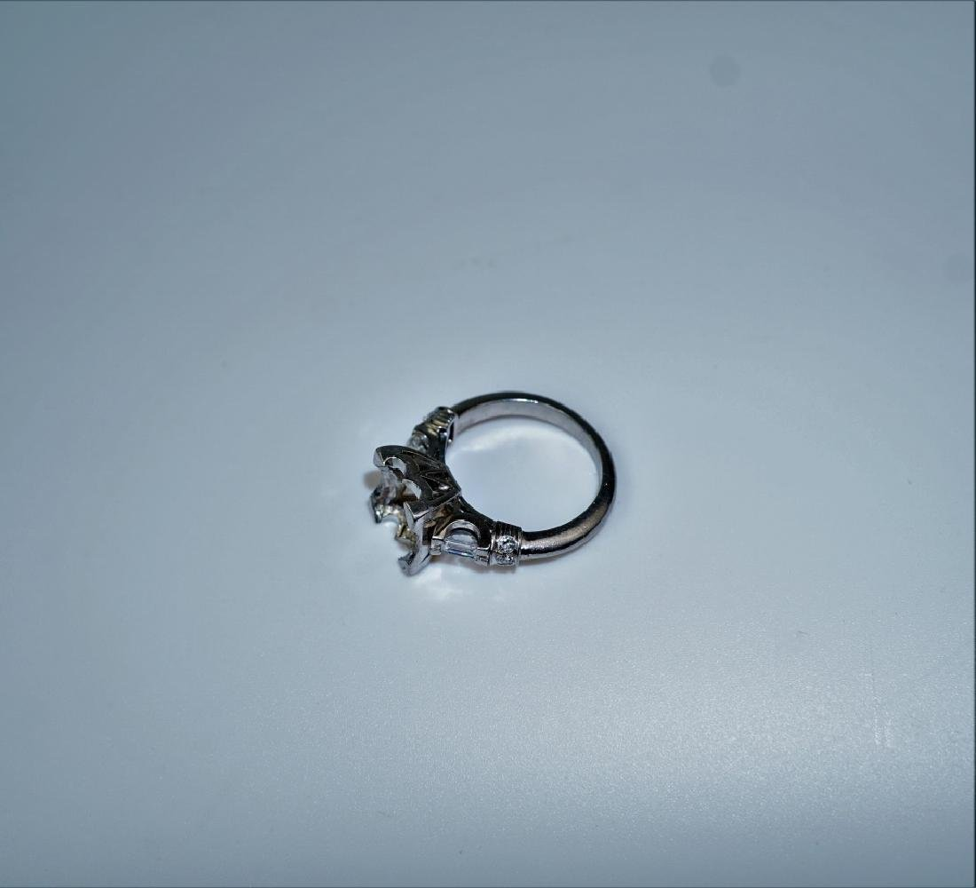 PLATINUM AND DIAMOND PEARL RING SETTING - 3