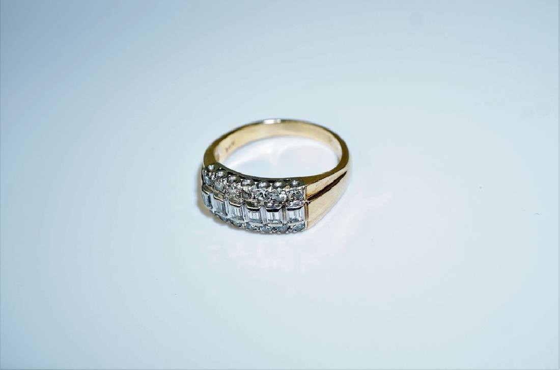 14K GOLD AND DIAMOND FASHION RING - 3
