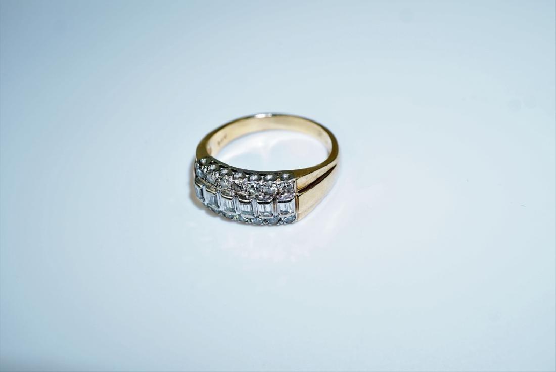 14K GOLD AND DIAMOND FASHION RING - 4