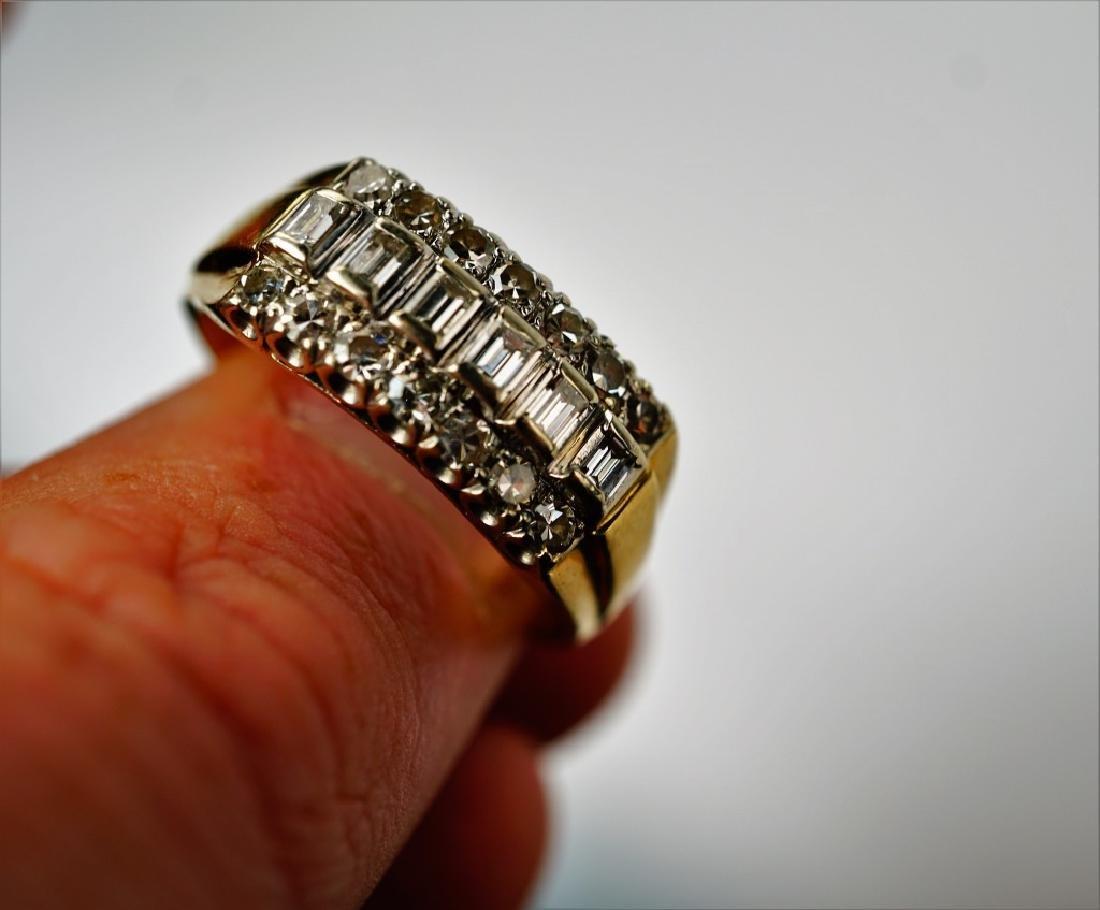 14K GOLD AND DIAMOND FASHION RING - 5