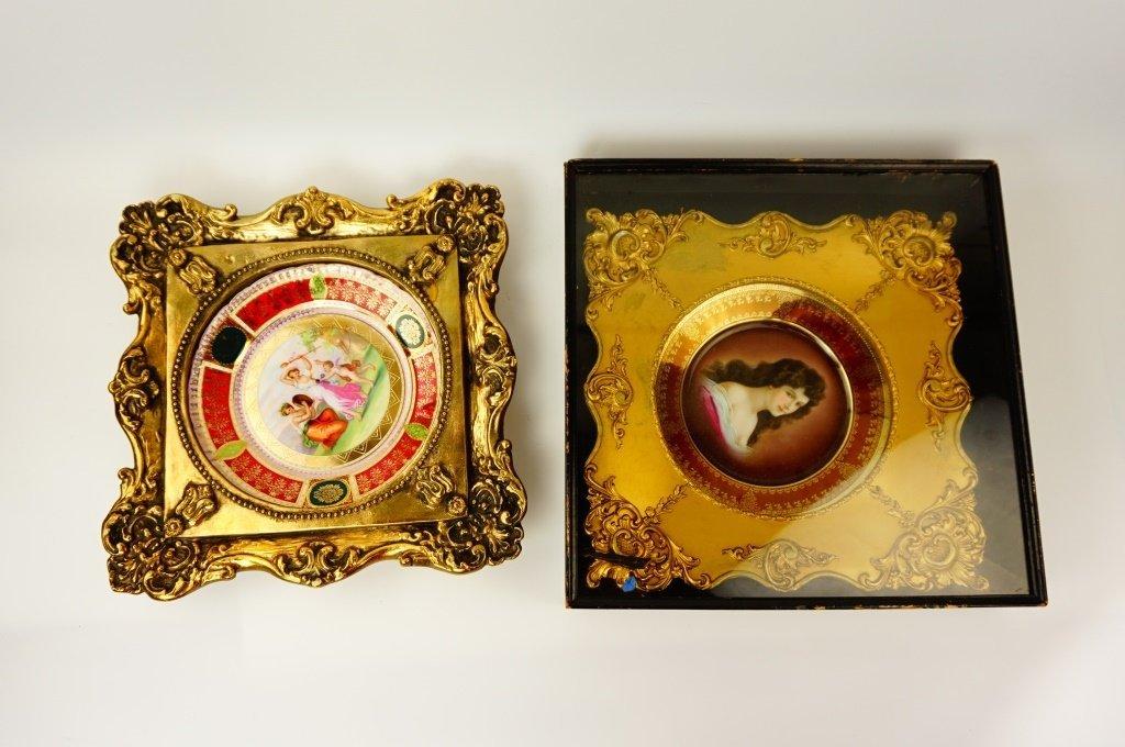 (2) ROYAL VIENNA PORTRAIT CABINET PLATES