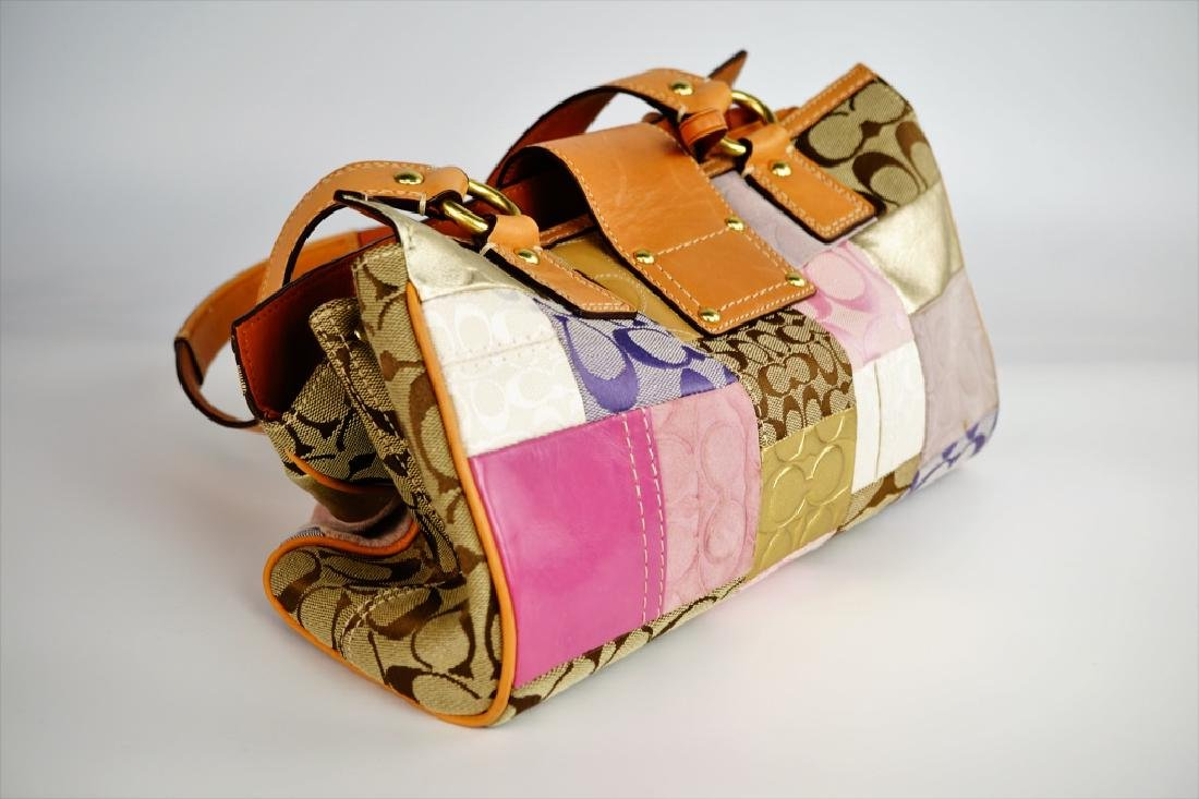 PATCHWORK COACH SHOULDER HANDBAG - 3
