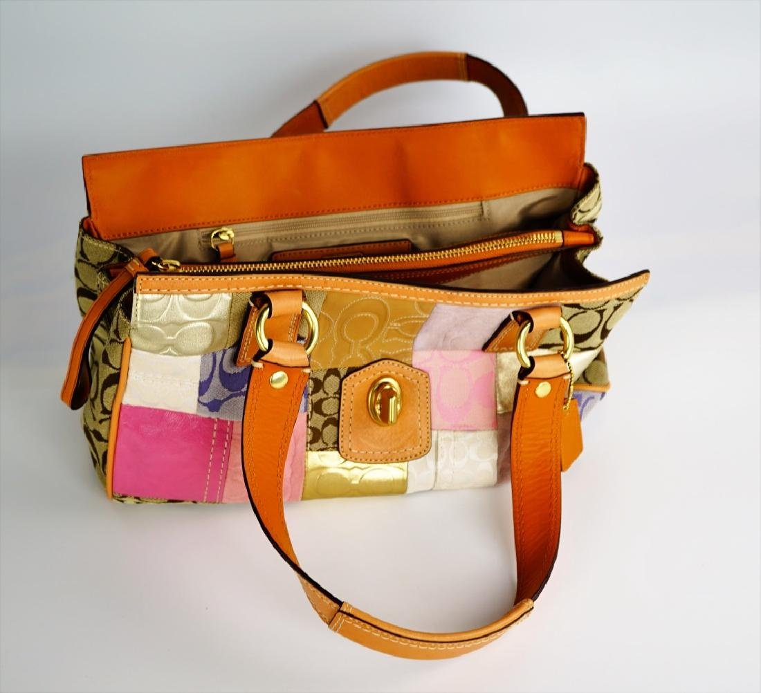 PATCHWORK COACH SHOULDER HANDBAG - 4