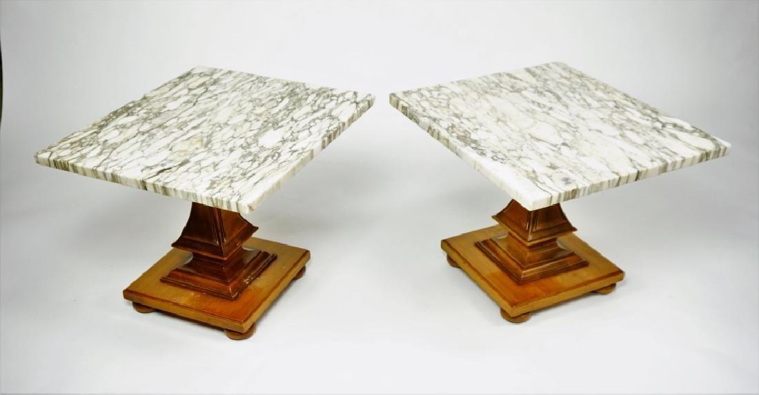 JOHN WIDDICOMB FAUX BERKEY MARBLE TOP TABLE