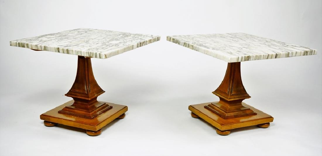 JOHN WIDDICOMB FAUX BERKEY MARBLE TOP TABLE - 6