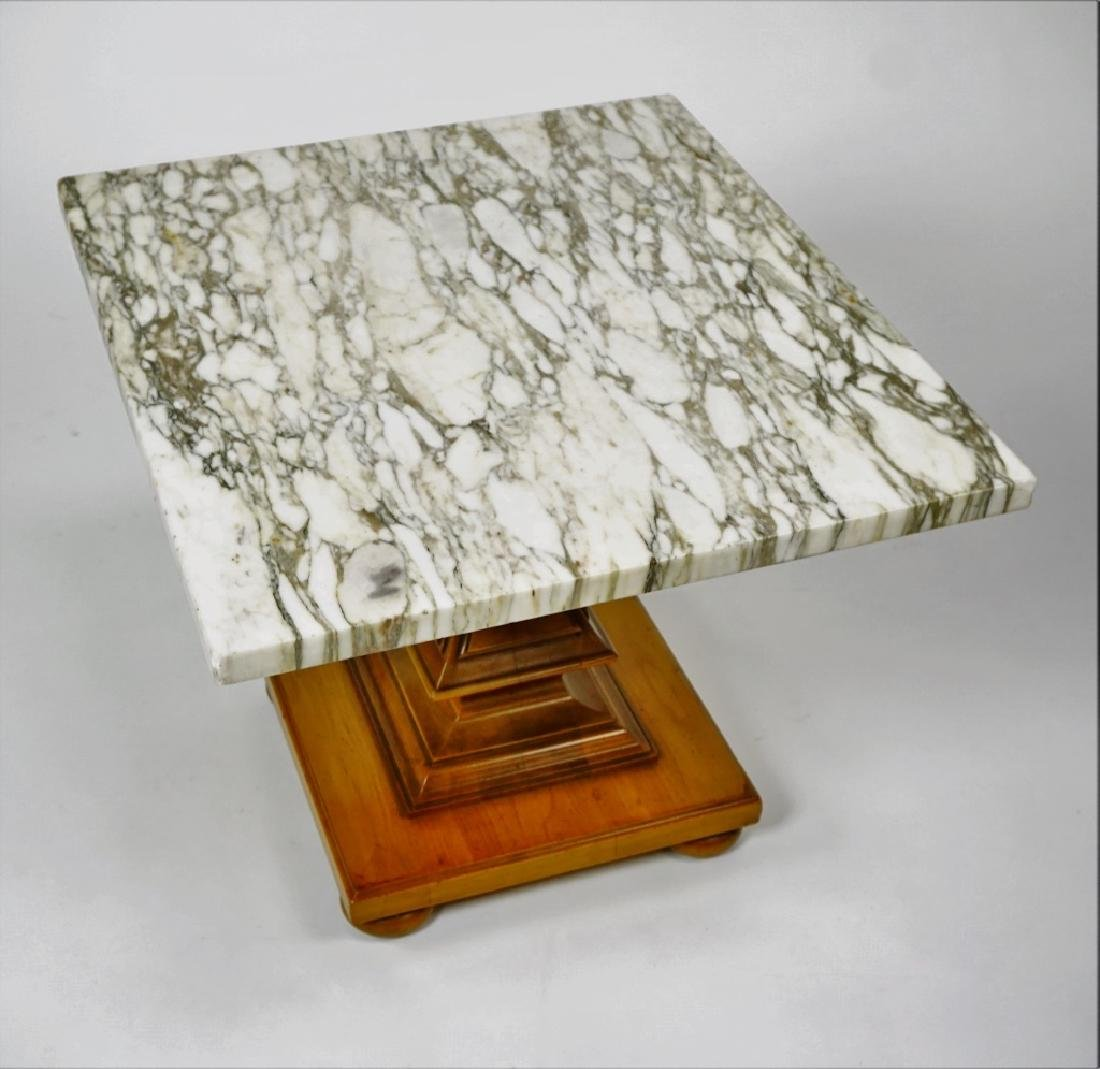 JOHN WIDDICOMB FAUX BERKEY MARBLE TOP TABLE - 7