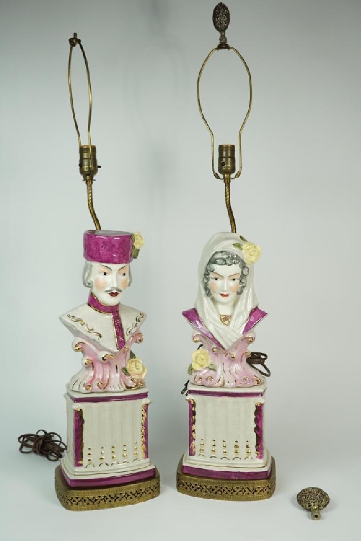 PAIR PORCELAIN LAMPS