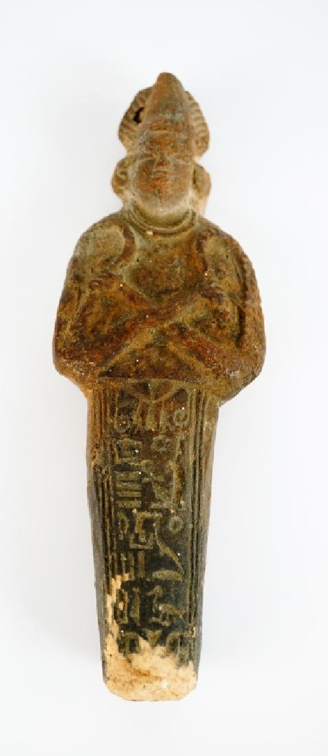 EGYPTIAN USHABTI TERRACOTTA FUNERARY FIGURE