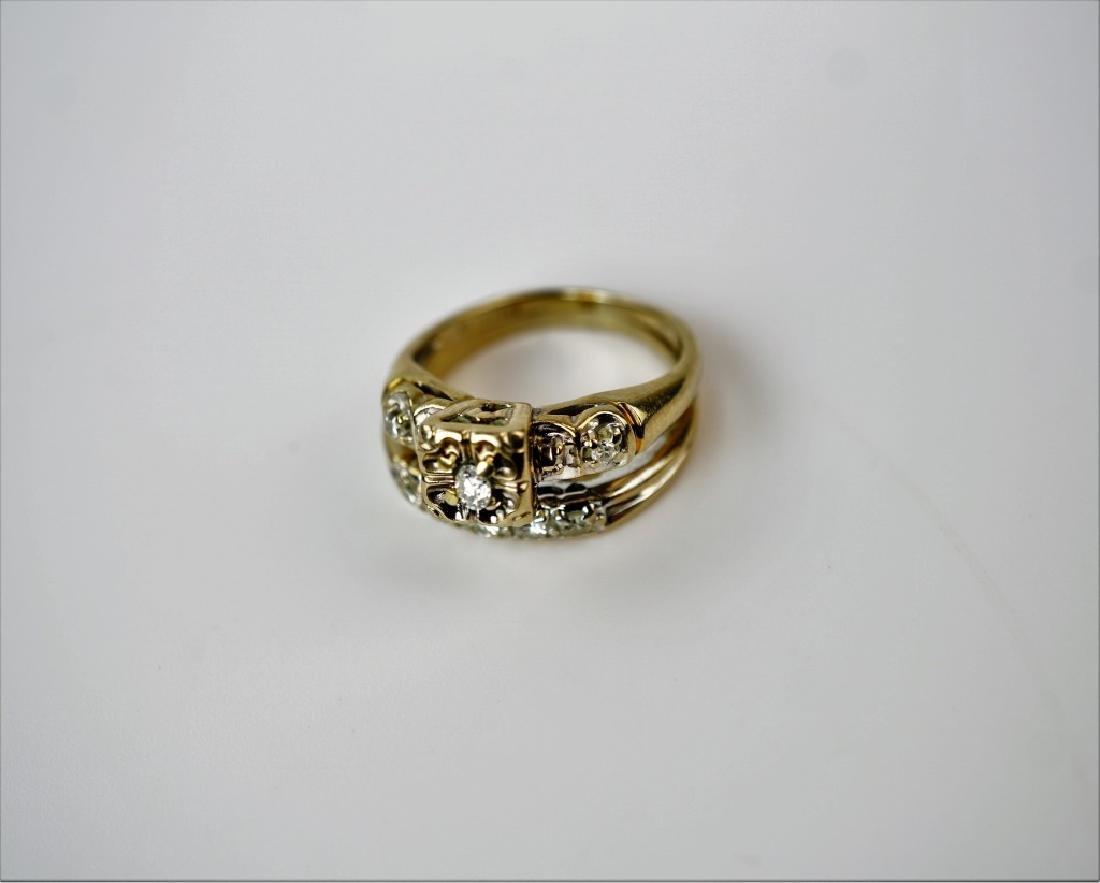 14K WHITE GOLD & DIAMOND BRIDAL SET