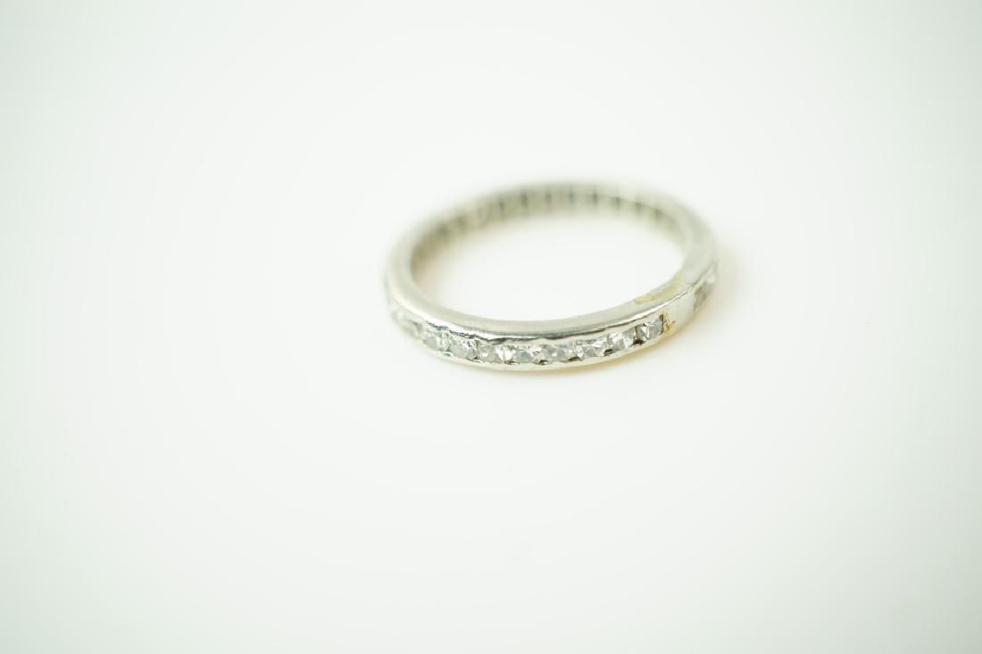 PLATINUM & DIAMOND ETERNITY BAND RING - 2