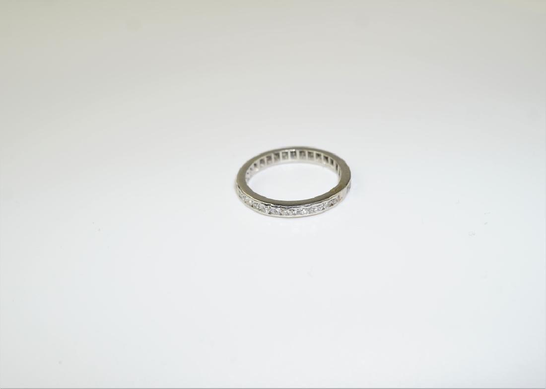 PLATINUM & DIAMOND ETERNITY BAND RING - 3
